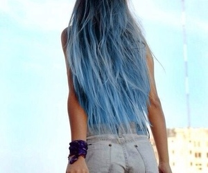blue hair, cool, and fit image