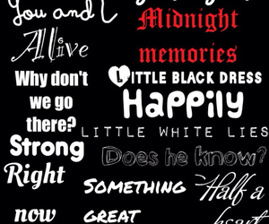 one direction, song, and midnight memories image
