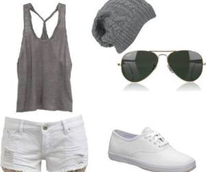 blanco, gris, and vans<3 image