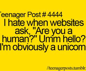 unicorn, human, and funny image