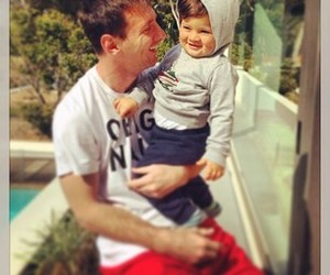 messi, Thiago, and father image