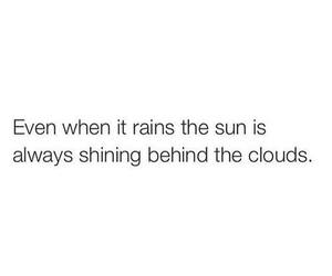 quote, sun, and clouds image