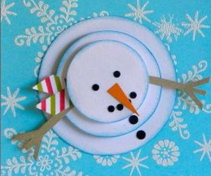 cards, snowman, and christmas image