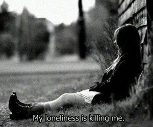 alone, loneliness, and sad image