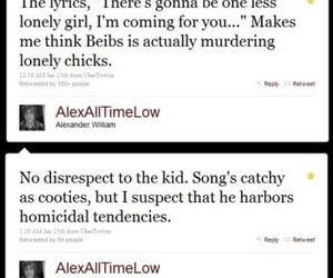 all time low, alex gaskarth, and twitter image