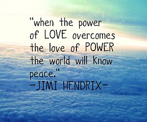 Jimi Hendrix, power, and peace image