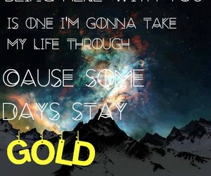 galaxy, gold, and Lyrics image