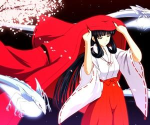 inuyasha, anime, and kikyo image
