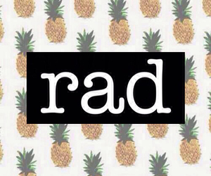 rad, pineapple, and wallpaper image