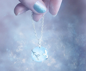 blue, nails, and necklace image