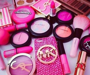 make up, cute, and pink image