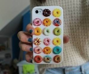 donuts, iphone, and case image