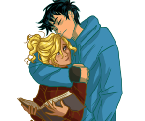 book, couple, and percy jackson image