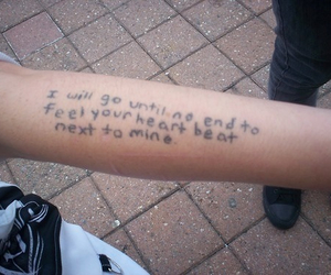 love, tattoo, and quotes image