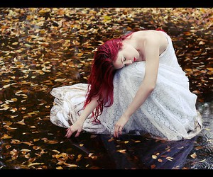autumn, beauty, and redhead image