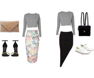 outfit, Polyvore, and rihanna image