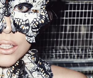 butterfly, girl, and Lady gaga image