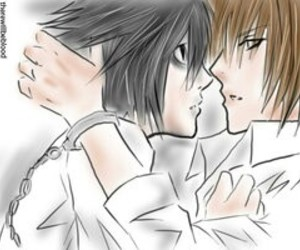 Boys Love, L, and death note image