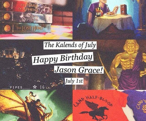 birthday, fictional character, and heroes of olympus image