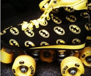 batman, comic, and skates image
