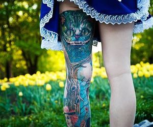 tattoo, alice in wonderland, and alice image