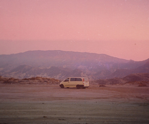photography, pink, and van image
