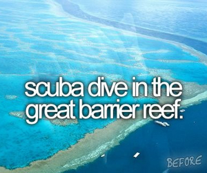 scuba diving, before i die, and bucket list image