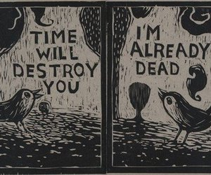 dead, time, and bird image