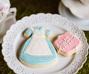 alice in wonderland, alice, and Cookies image