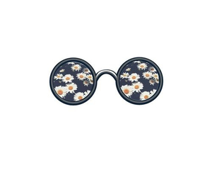 flowers, glasses, and hipster image