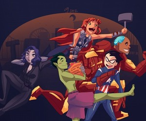 teen titans and robin image