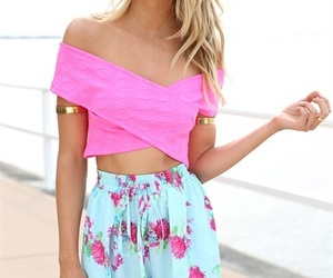 floral, summer, and pink image