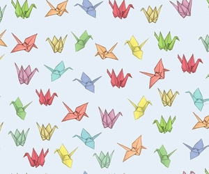 background, origami, and pattern image