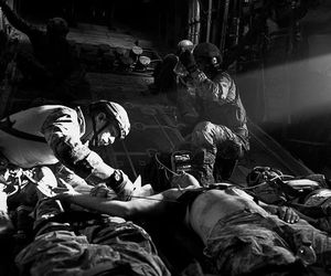 b & w, heros, and military image