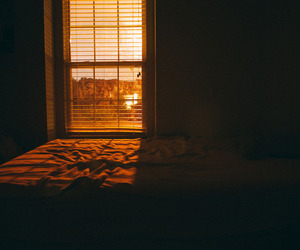 room, sunset, and window image