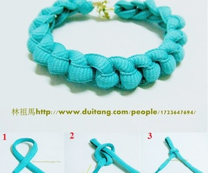 bracelet, diy, and bransoletka image