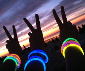 friends, peace, and neon image