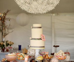 cake, chandelier, and reception image