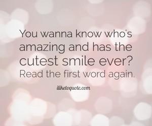 you, amazing, and smile image