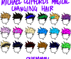 hair, 5sos, and michael clifford image