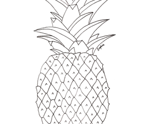 pineapple, fruit, and drawing image