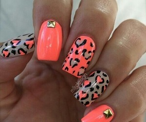 nails, nail art, and leopard image