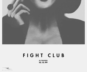 fight club, smoke, and black and white image