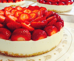 cheesecake, lime, and strawberry image