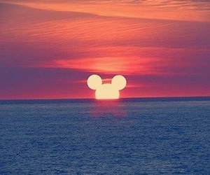 disney, sunset, and sun image