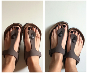 birkenstock, brown, and classic image
