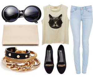 bracelet, fashion, and jeans image