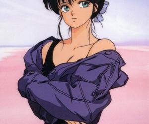 anime, black hair, and kawaii image