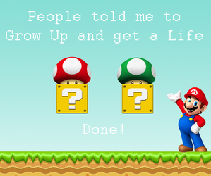 1Up, grow up, and life image