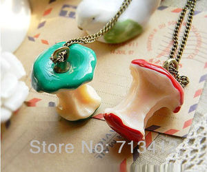accessories, necklace, and apple image